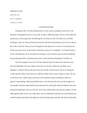 Cold Mountain Paper.docx