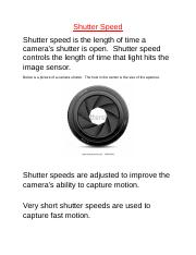 Lesson 4_  Shutter Speed.docx