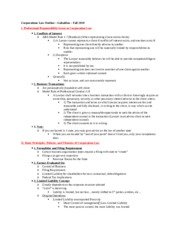 Corporations Law Outline