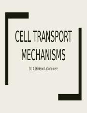 Cell Transport Mechanisms - Dr. LaCorbiniere