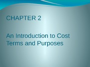 CH02 An Introduction to Cost Terms and Purposes