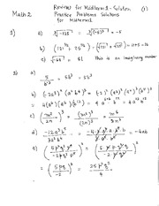 Soltions for Review Problems Midterm1