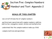 8Complex Numbers