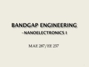 Nano Science (Lec8 Bandgap Engineering)