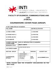 BUSINESS Coursework Cover Page _Group_