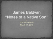 James Baldwin Lecture
