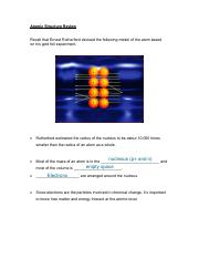 Chapter 3 - Light and Atomic Structure
