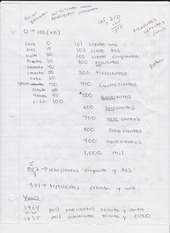 numbers, estoy and verbs notes