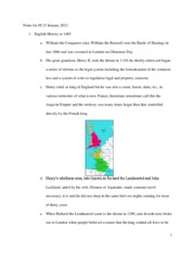 Notes for M 23 January 2012