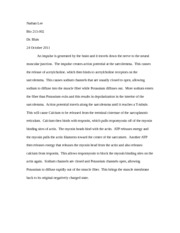 Muscle Contraction essay