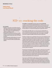 ICD-10 - cracking the code. revenue cycle