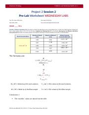 P2 S2 Pre-Lab Worksheet Wed Labs