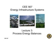 Lecture3 Process Energy Balances for Energy Infrastructual system