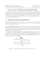Shortest Superstring Problem