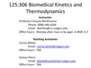Thermo Kin Lectures 1-2