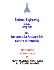 02 - ECE131 - S17 - Semiconductor Fundamentals - Carrier Concentration.pdf