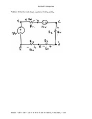 Kirchhoff's Voltage Law 3