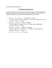 Precipitation-Reactions-KEY