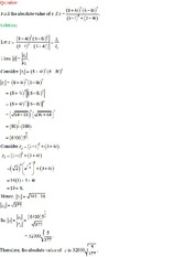 absolute value of a complex number.