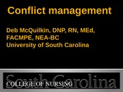 Fall 2013 210 conflict management