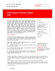 china enacts property rights law