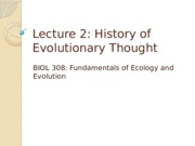 2-History of Evolutionary Thought