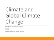 Global Climate Change Lecture