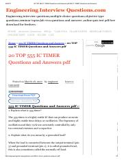 20 TOP 555 IC TIMER Questions and Answers pdf 555 IC TIMER Questions and Answers.pdf
