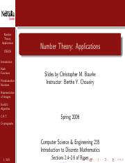 NumberTheoryApplications