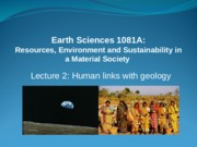 Human Links with Geology 2