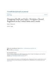 Designing Health and Safety- Workplace Hazard Regulation in the U