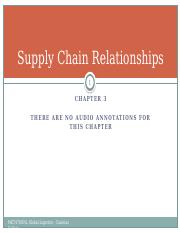 MKT478ONL - Chapter 3 - Supply Chain Relationships