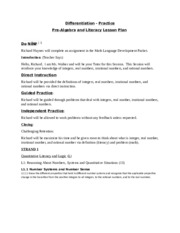 Pre-Algebra and Literacy Lesson Plan - Marygrove Course - March-April 2015 (1)