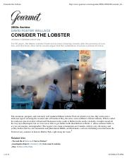 ENG 121 - Week 4 - Consider the Lobster.pdf