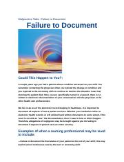 Malpractice+Tales+-+Failure+to+Document