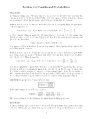 Conditional probability notes