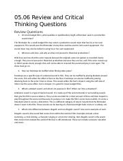 05.06 Review and Critical Thinking Questions