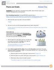 PlantsSnails.pdf - Name Sad Wallace Date Student ...