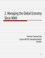 2 managing global econ since WWII-BB