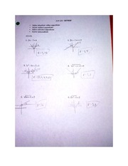 Review on 2.4 and 2.5 Pre-Calculus