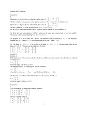 Problem Set 3 Solution Spring 2013 on Linear Algebra