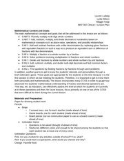 MAT 302 Clinical 1 Lesson Plan