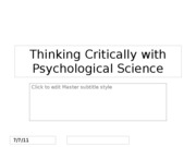 How_Psychology--Chapter 1