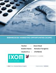 BSBMKG501B MARKETING OPPORTUNITIES (SCOPE).doc