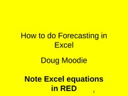 How to do Forecasting in Excel