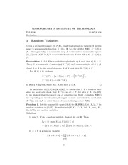 Random Variables, Order statistics, and Inequalities notes