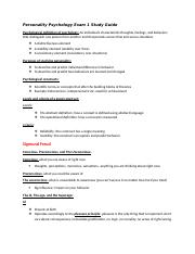 Personality Psychology Study Guide Exam 1.docx