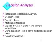 Decision Analysis H
