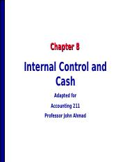 Accounting 211 Chapter 8