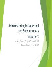 Administering Intradermal and Subcutaneous injections - 2018 - pdf.pdf